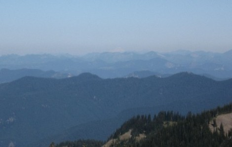 That little white triangle on the horizon towards the righthand edge of the photo is Mt. Baker.